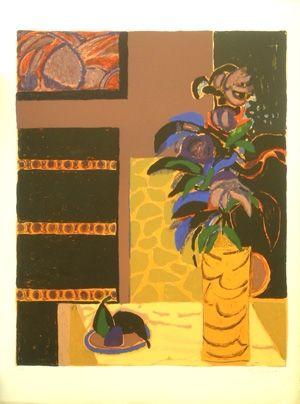 Литография Godard - Le vase jaune