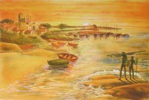 Литография Totero - Le veil homme et la mer