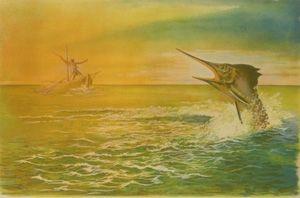 Литография Totero - Le viel homme et la mer