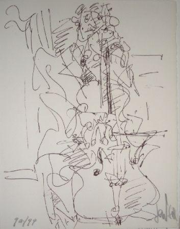 Литография Paul  - Le violoncelliste