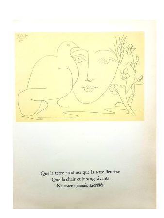 Литография Picasso (After) - Le Visage de la Paix