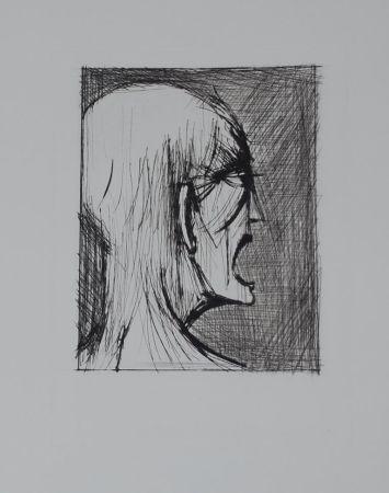 Гравюра Сухой Иглой Buffet - L'enfer de Dante / Damné ricanant