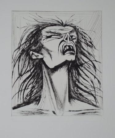 Гравюра Сухой Иглой Buffet - L'enfer de Dante / Figure Eclatée