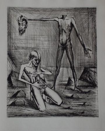 Гравюра Сухой Иглой Buffet - L'enfer de Dante / Hélas