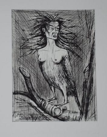 Гравюра Сухой Иглой Buffet - L'enfer de Dante / La Harpie