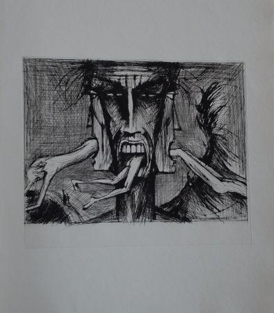 Гравюра Сухой Иглой Buffet - L'enfer de Dante / Lucifer