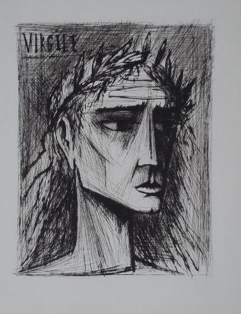 Гравюра Сухой Иглой Buffet - L'enfer de Dante / Virgile
