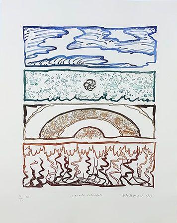 Гравюра Alechinsky - Les 4 éléments