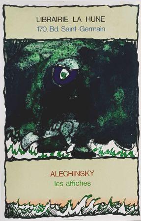 Литография Alechinsky - Les Affiches  Librairie  à La Hune