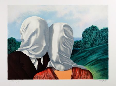 Литография Magritte - Les Amants