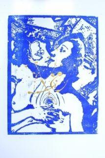 Гравюра На Дереве Leherpeur - Les Amants