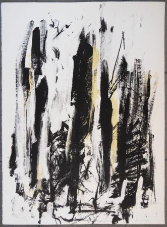 Литография Mitchell - Les arbres en jaune