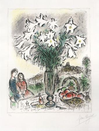 Литография Chagall - Les Arums