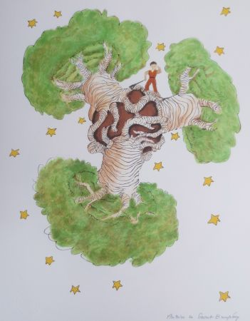 Литография Saint-Exupéry - Les Baobabs