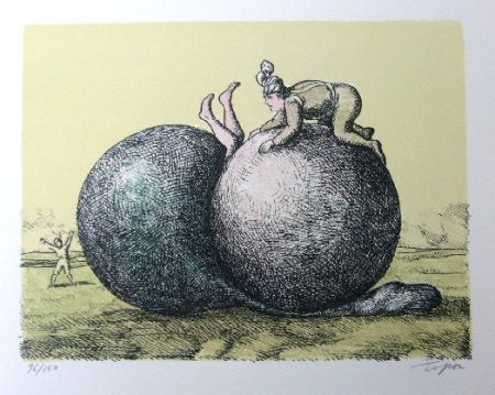 Литография Topor - Les boules