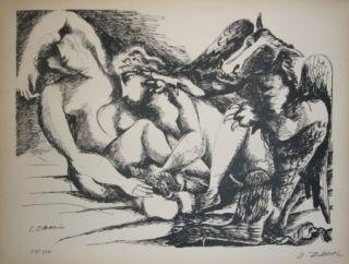 Литография Zadkine - Les cavales de Diomède