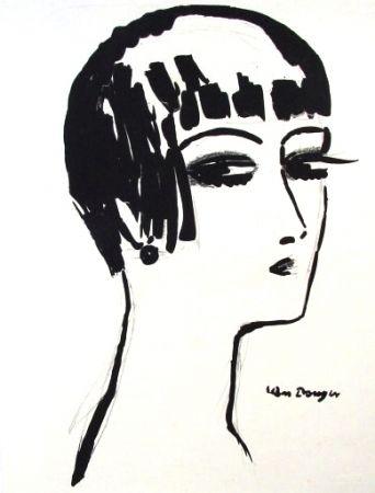 Литография Van Dongen - Les Cheveux Courts