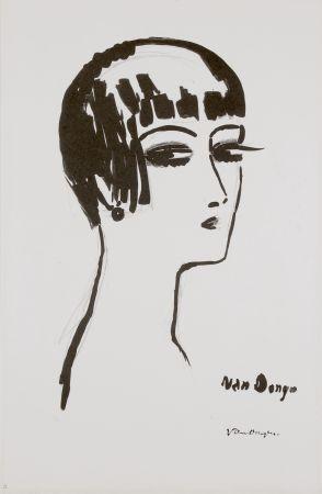 Литография Van Dongen - Les Cheveux Courts, 1th State