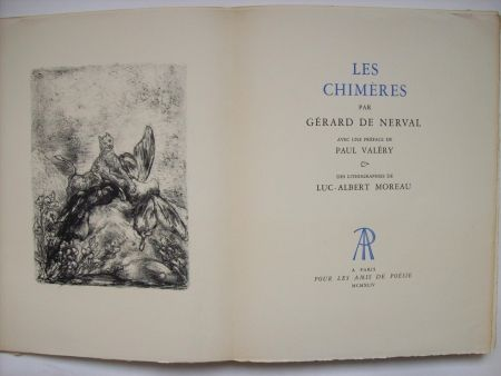 Иллюстрированная Книга Moreau - Les Chimères, par Gérard de Nerval. Avec une préface de Paul Valéry & des lithographies de Luc-Albert Moreau