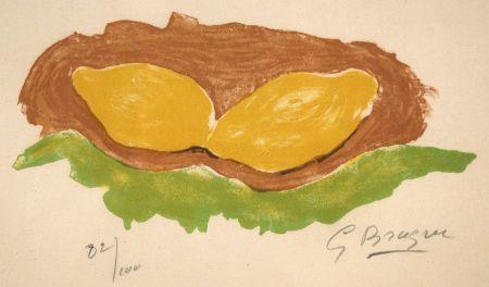 Литография Braque - Les citrons