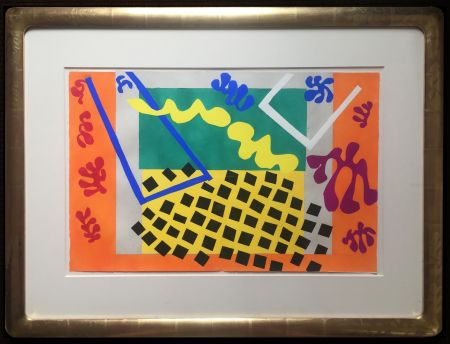 Трафарет Matisse - LES CODOMAS. Pochoir original de Jazz  (Album 1947)