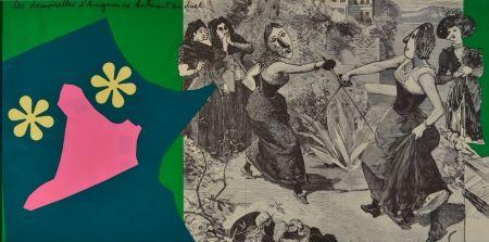 Литография Baj - Les demoiselles d'Avignon