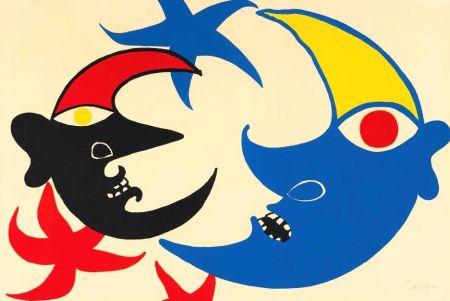 Литография Calder - Les deux lunes