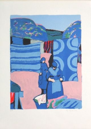Литография Godard - Les draps bleus