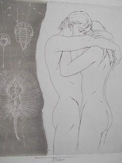 Литография Trémois - Les empreintes de l'amour