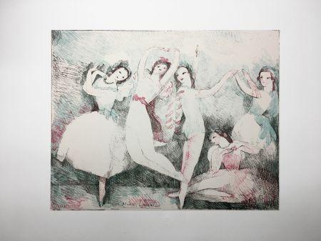 Литография Laurencin - LES FÊTES DE LA DANSE (Lithographie). 1937.