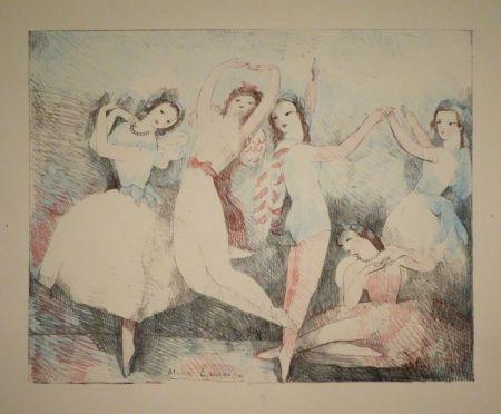 Литография Laurencin - Les fêtes de la danse