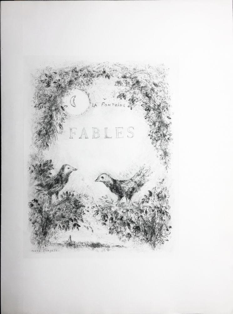 Офорт Chagall - LES FABLES DE LA FONTAINE (Couverture gravée du tome 2). 1952