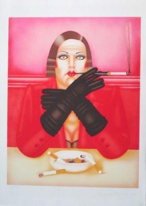 Литография Okshteyn - Les gants noirs
