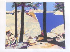 Литография Godard - Les grands arbres