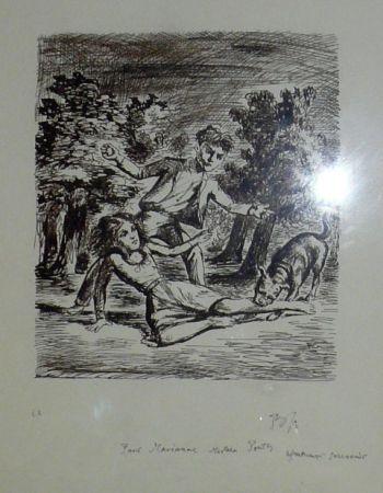 Литография Balthus - Les hauts de hurlevent