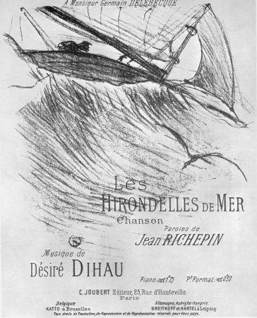 Литография Toulouse-Lautrec - Les Hirondelles de Mer