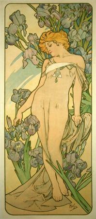 Литография Mucha - Les Iris
