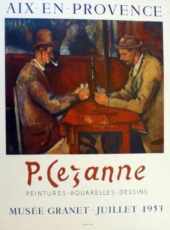 Литография Cezanne - Les joueurs de carte