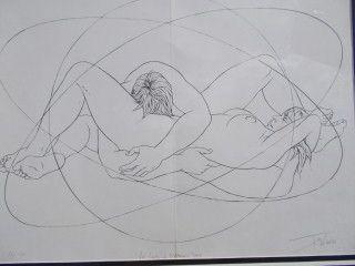 Литография Trémois - Les limites de l'humain