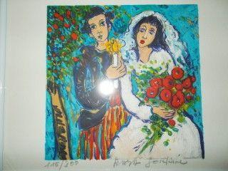 Литография Sorkine - Les mariés a la bougie