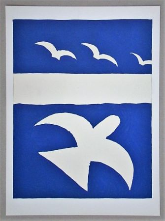 Литография Braque (After) - Les oiseaux