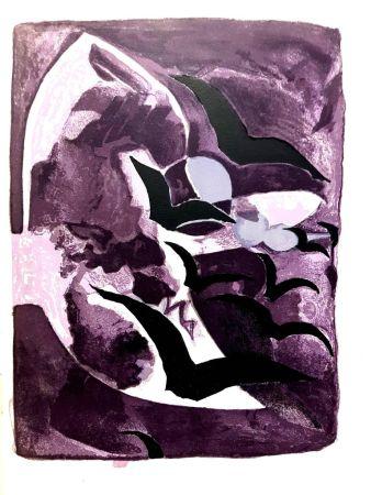 Литография Braque - Les Oiseaux de Nuit