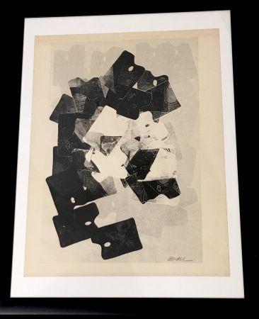 Монотип Arman - Les Palettes De Viallalt, 1966