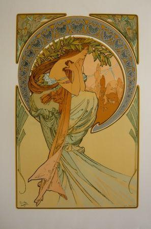 Литография Mucha - Les quatre saisons 2