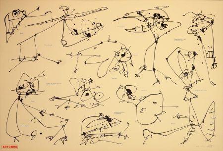 Литография Saura - Les quatre saisons, Automne