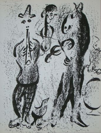 Литография Chagall - Les Saltimbanques
