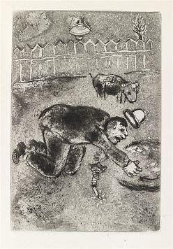 Офорт Chagall - Les sept Peches capitaux: L'Avarice 11