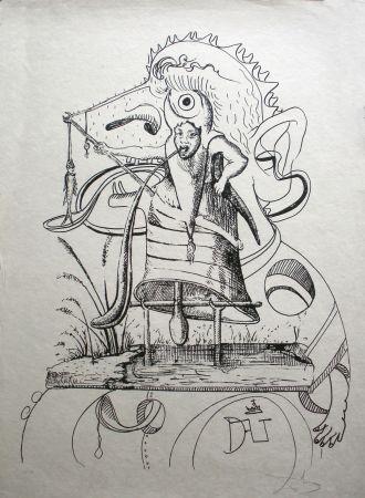 Литография Dali - Les Songes Drolatiques De Pantagruel 11