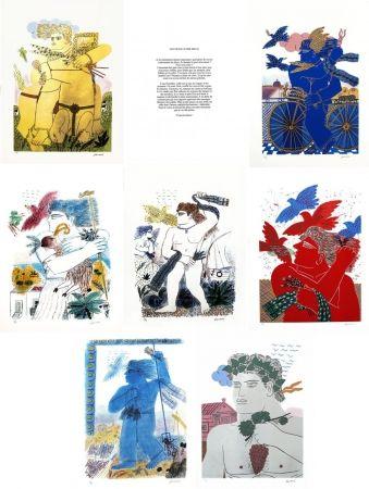 Сериграфия Fassianos - Les travaux des dieux