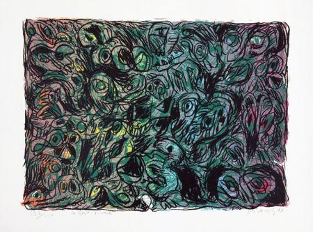 Литография Alechinsky - Les yeux ouverts